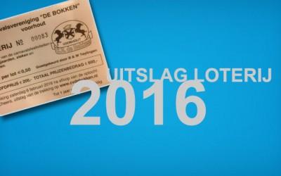 Uitslag loterij 2016