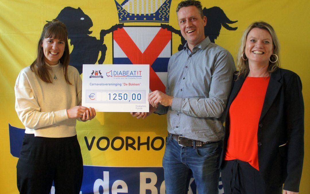 Diabetes Fonds ontvangt€ 1250,-van de Bokken