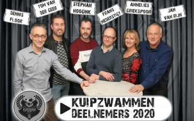 Namen kuipzwammers 2020 bekend